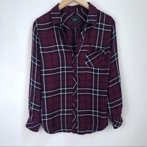 Rails Button Down Flannel Shirt Size XS
